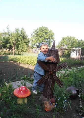 Добрый день, всем, всем, всем!!! Вдохновленная работой Ленчика (Деревенщина)                                   http://stranamasterov.ru/node/234062, наконец-то, я закончила и свою мельничку для двора. фото 2