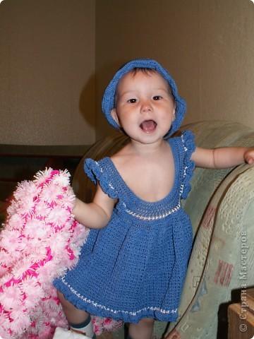 Очень понравилось вязать такое платье, планирую еще в другой расцветке) фото 2