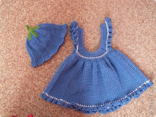 Очень понравилось вязать такое платье, планирую еще в другой расцветке) фото 1