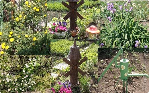 Добрый день, всем, всем, всем!!! Вдохновленная работой Ленчика (Деревенщина)                                   http://stranamasterov.ru/node/234062, наконец-то, я закончила и свою мельничку для двора. фото 3
