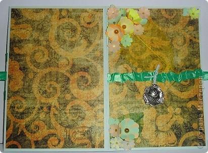 Сегодня я к вам с двумя открыточками.Сначала родилась левая,с неё и начну. фото 9