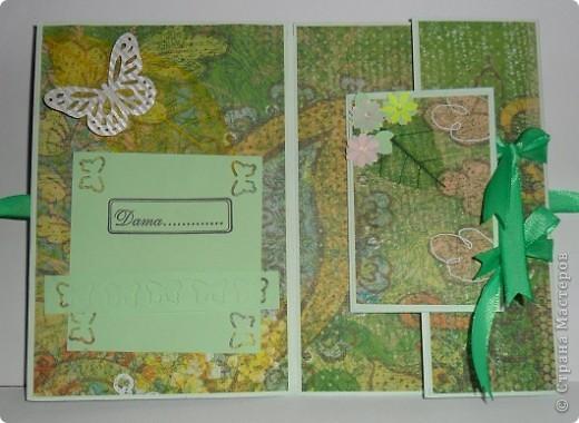 Сегодня я к вам с двумя открыточками.Сначала родилась левая,с неё и начну. фото 7