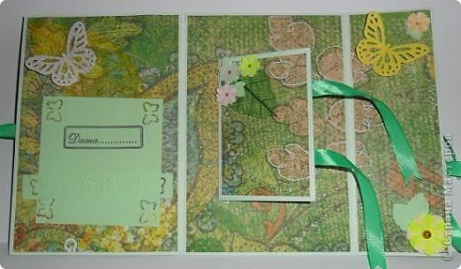 Сегодня я к вам с двумя открыточками.Сначала родилась левая,с неё и начну. фото 8