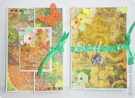 Сегодня я к вам с двумя открыточками.Сначала родилась левая,с неё и начну. фото 1