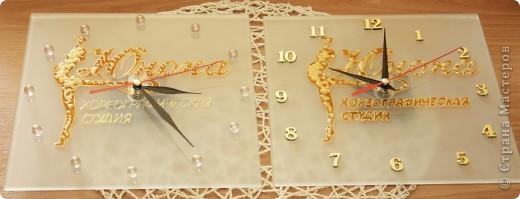 Часики к рождению Малышки.Витраж. фото 2