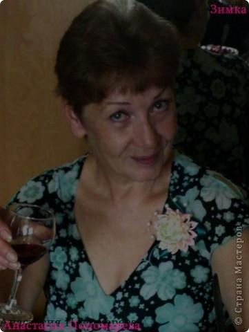 Мама недавно попросила меня сделать для неё брошь, вот что получилось... Бусинки из натурального жемчуга. фото 3