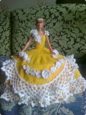 Куклы Вязание крючком Платье