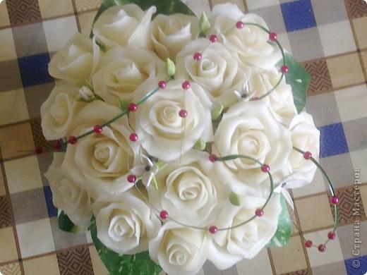 вот такие цветы наконец то получились с клеем ПВА момент, аж самой нравится фото 2