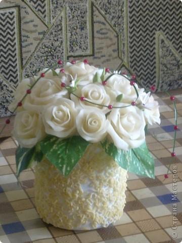 вот такие цветы наконец то получились с клеем ПВА момент, аж самой нравится фото 3