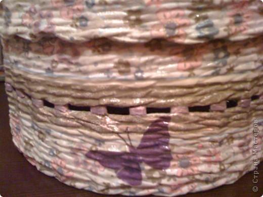 """почему коробок именно для носочков? всё просто.Моя подружка увидев на сайте предыдущие фото моих творений)),сказала(цитирую ее слова) :""""я тоже хочу такие штучки!!!.....такую круглую  хочу..)))))))))для носочков или еще чего-нибудь"""" Так что,это подарок для подружки  фото 4"""