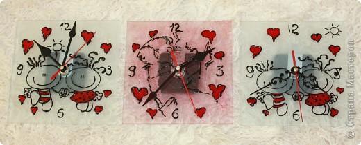 Часики к рождению Малышки.Витраж. фото 11