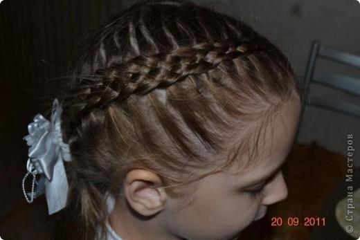 Французская коса из 5 прядей фото 2
