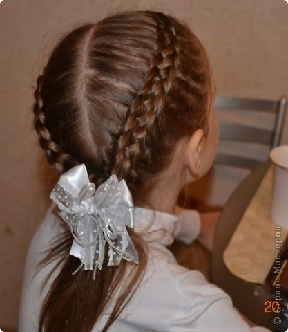 Французская коса из 5 прядей фото 1
