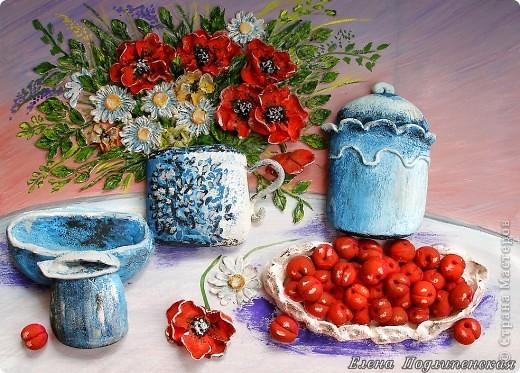 Пахнет воздух летними цветами, И зовут к столу нас угощения, Аромат вишневых ягод опьяняет, И вишневое сегодня настроение!                               Елена Подлипенская фото 1