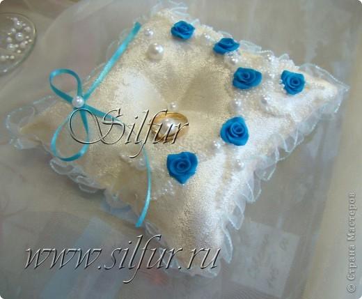 Свадебный набор Голубой и айвори. фото 3