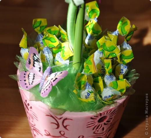 Всё не наиграюсь с деревьями))) Делать их трудоёмко но интересно. На этот раз в салатово-сиреневом цвете.... фото 3