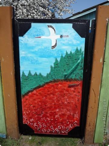 Новые рисунки на воротах у свекрови. фото 2
