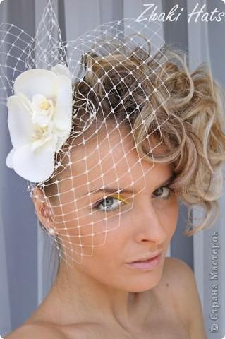 """Свадебная вуалеточка """"орхидеи"""" фото 1"""