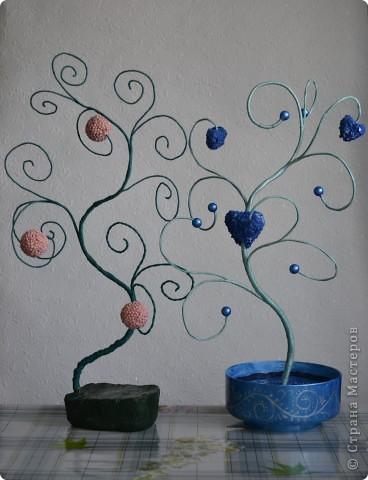 здравствуйте всем! понравились мне деревья с мастер-классом  у Эдельвейс_   http://stranamasterov.ru/user/114197 , за что огромное спасибо, решила тоже таких сделать, вот что вышло! фото 3