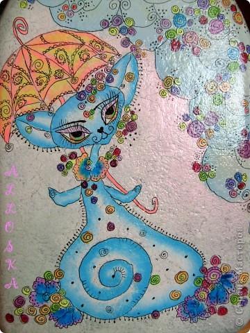 Стеклянный сосуд, грунтовка, роспись акриловыми красками. Покрыт лаком для прочности. По мотивам работ Светланы Кириченко,спасибо))))) фото 5