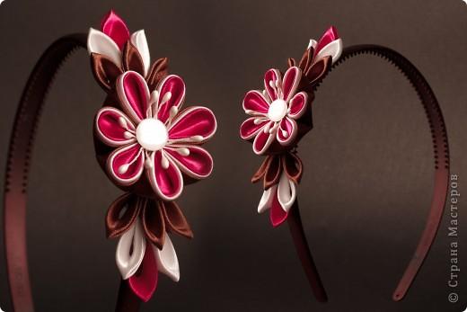 я сделала этот цветок на 3-й день после моего первого знакомства с канзаши )  фото 24