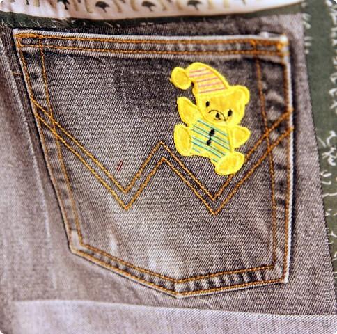 В дело пошли остатки искусственного меха, старые джинсы, драп. фото 10
