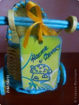Приветик Страна Мастеров! У меня появился первый заказ - колясочка на свадьбу. Результатом делюсь с вами ))) фото 4