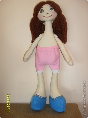 захотелось сшить куклу такого типа,получилась скромница такая... фото 2