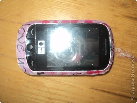 Я это сделала-декупаж телефона фото 4