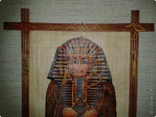 благодаря чудесному, доступному  МК Ольга73 (http://stranamasterov.ru/node/312208/) мой фараон (пролежав год на шкафу) наконец-то обрел счастье!!! и теперь счастливый висит на стене))) фото 2