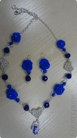 Голубые лилии в серебре фото 7