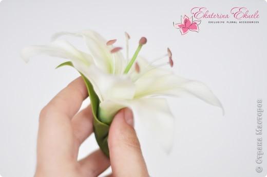 Моя первая лилия как элемент к свадебному украшению фото 1