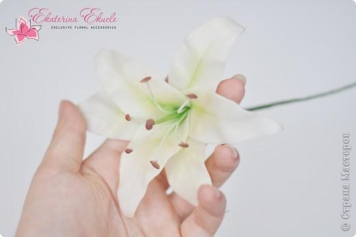 Моя первая лилия как элемент к свадебному украшению фото 3