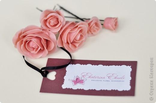 Розы - украшение для прически невесты фото 1