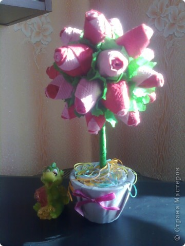 Панно с пионами (я очень надеюсь, что цветочки похожи на пионы) фото 3
