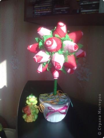 Панно с пионами (я очень надеюсь, что цветочки похожи на пионы) фото 4