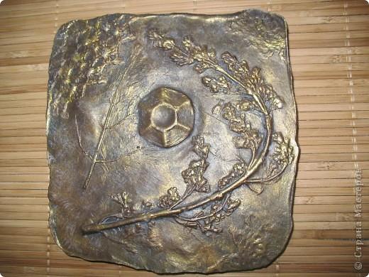 отпечатки листьев в гипсе штукатурка, алебастр фото 1