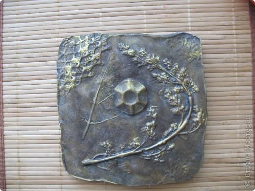 отпечатки листьев в гипсе штукатурка, алебастр фото 2