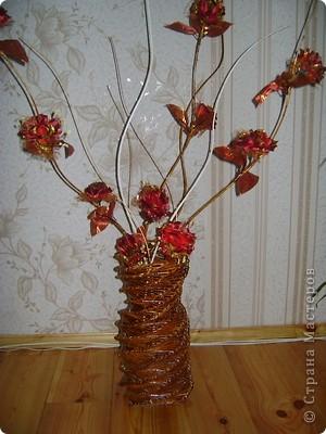 Плетёная ваза   фото 2