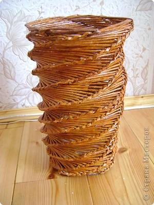 Плетёная ваза   фото 3