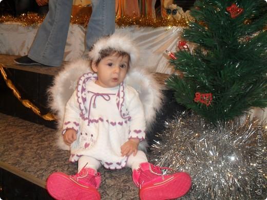 крылья и ободок я сделала для моего ангелочка на рождество  фото 2