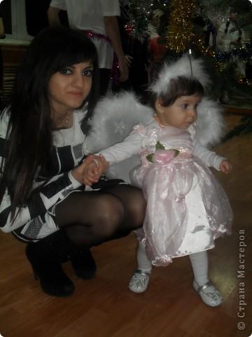 крылья и ободок я сделала для моего ангелочка на рождество  фото 3