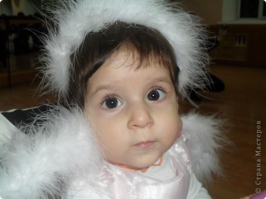 крылья и ободок я сделала для моего ангелочка на рождество  фото 1