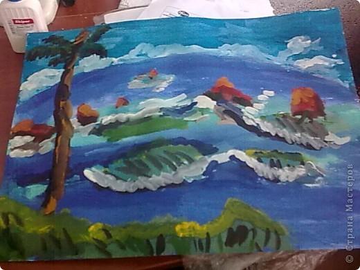 Морская зарисовка с пальмой