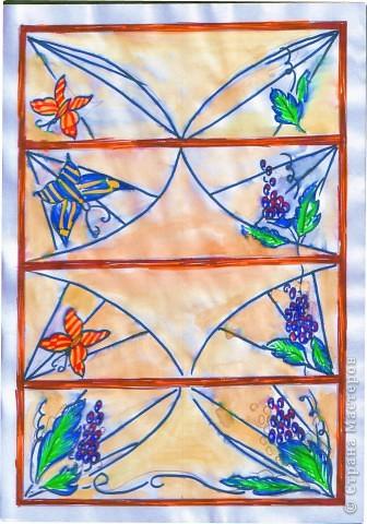 Декорирование окна выполнила Галиева Альбина 14лет МОУ ВГЛ,г.Волжск. Использовалась техника витража.  фото 3