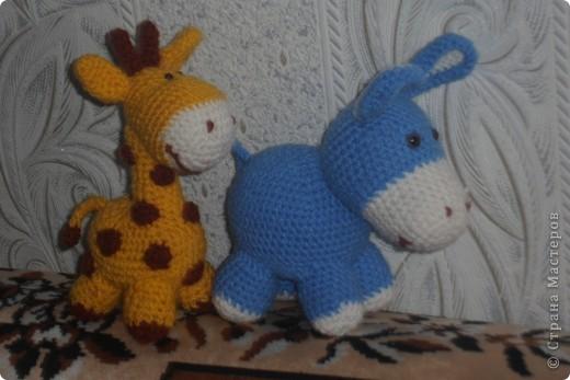 Вот такую жирафку и ослика увидела на страницах Страны мастеров и решила что мне тоже такие нужны .  фото 2