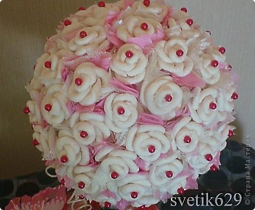 Всем приветик! А я сделала Дерево из бумажных роз. Сделано с любовью от чистого сердца. Подарок для племяшки ) фото 3