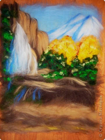 Водопад из шерсти фото 11