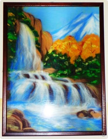 Водопад из шерсти фото 1
