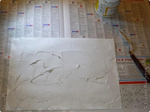 Результат моего эксперимента с текстурной пастой.  фото 2